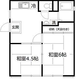 セサミハウス[1階]の間取り
