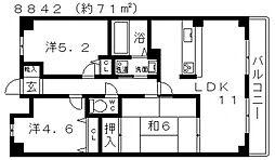 ロイヤルハイツ藤井寺[1003号室号室]の間取り