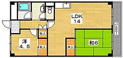 ワコーマンション[3階]の間取り