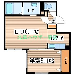 (仮)北14東1 A棟[4階]の間取り
