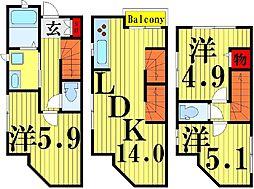 [一戸建] 東京都足立区西新井栄町3丁目 の賃貸【東京都 / 足立区】の間取り
