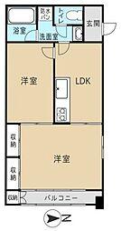 チャペルサイドアパートメント[5階]の間取り