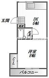 徳島県徳島市佐古八番町の賃貸マンションの間取り