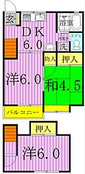 ハイム立花[3階]の間取り