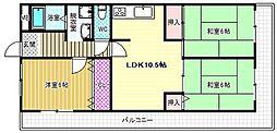 Rinon国分[4階]の間取り