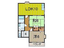 シティコーポ新藤[201号室]の間取り