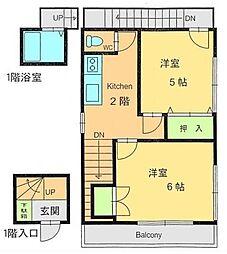 [一戸建] 東京都中野区丸山2丁目 の賃貸【/】の間取り