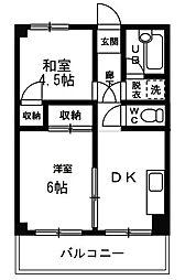 ルーエ大和田[3階]の間取り
