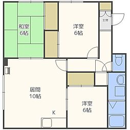 こまどりアパート[2階]の間取り
