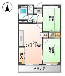 永安ビル[4階]の間取り