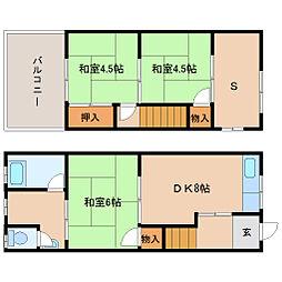 [テラスハウス] 兵庫県尼崎市南清水 の賃貸【/】の間取り