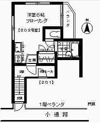 東京都世田谷区桜上水2丁目の賃貸アパートの間取り