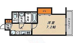 Osaka Metro長堀鶴見緑地線 今福鶴見駅 徒歩5分の賃貸マンション 3階1Kの間取り