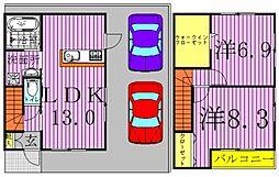 [タウンハウス] 千葉県柏市手賀の杜5丁目 の賃貸【/】の間取り