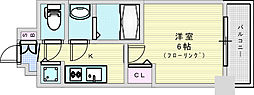 Osaka Metro御堂筋線 西中島南方駅 徒歩4分の賃貸マンション 9階1Kの間取り