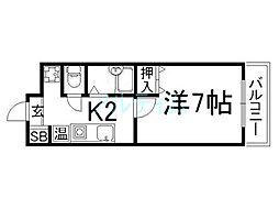 第一大宮ハイツ[2階]の間取り