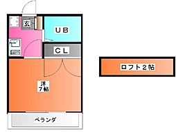 ミシマ壱番館[103号室]の間取り
