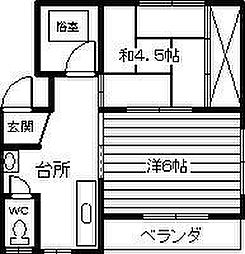 戸田アパート[301号室]の間取り