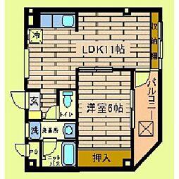 市ヶ尾森ビル五番館[303号室]の間取り