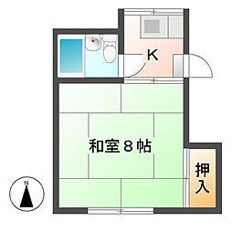今沢アパート[2階]の間取り