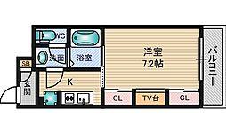 リブリ・江坂 1階1Kの間取り