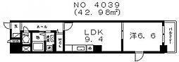 LN南河堀[6階]の間取り
