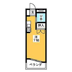 1001マンション[2階]の間取り