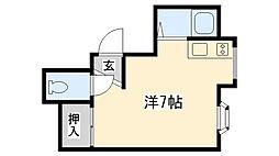甲子園壱番館(ミニハウスフルヤ)[2B号室]の間取り