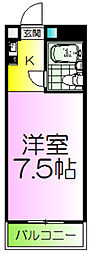 少林寺TKハイツ[5階]の間取り
