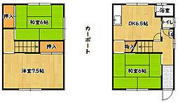 [一戸建] 兵庫県神戸市北区鈴蘭台南町7丁目 の賃貸【/】の間取り
