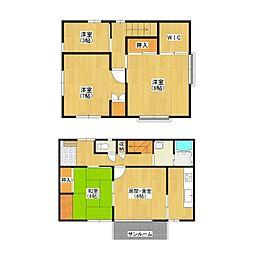 [一戸建] 茨城県つくば市高見原1丁目 の賃貸【/】の間取り