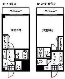 ラガーディア[3階]の間取り