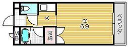 大阪府高槻市富田町3丁目の賃貸マンションの間取り