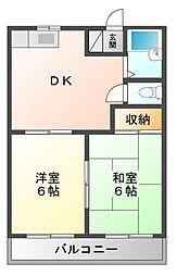 川本ハイツ[1階]の間取り