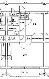 (賃)i-serene大橋[2階]の間取り