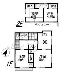 [一戸建] 埼玉県桶川市大字加納 の賃貸【/】の間取り
