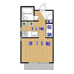 東京都目黒区目黒本町4丁目の賃貸マンションの間取り