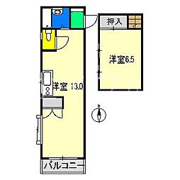 コーポ境丸[3階]の間取り