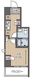 西武新宿線 久米川駅 徒歩2分の賃貸マンション 9階1Kの間取り