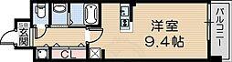 クラシェス尼崎 3階ワンルームの間取り