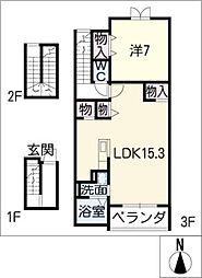 グレイスフル[3階]の間取り