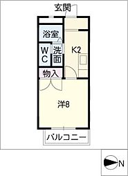 ラビットストリート[1階]の間取り