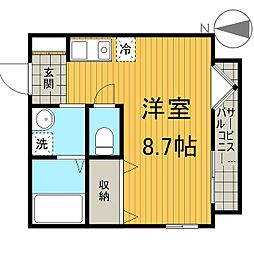A−レガート千葉椿森[1階]の間取り