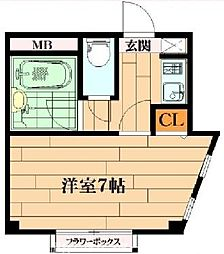 大阪府枚方市中宮本町の賃貸マンションの間取り