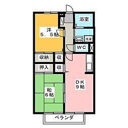 ガーデンヒルズ穂積[1階]の間取り