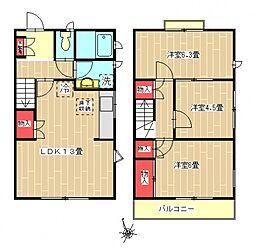 [タウンハウス] 東京都町田市小野路町 の賃貸【東京都 / 町田市】の間取り
