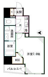 JR中央本線 中野駅 徒歩8分の賃貸マンション 2階1Kの間取り