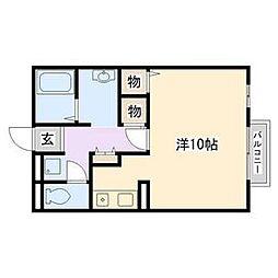 兵庫県姫路市苫編南1丁目の賃貸アパートの間取り