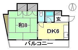 サンライン山岡[303 号室号室]の間取り