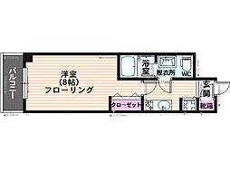 ピュアドームスタジオーネ平尾[408号室]の間取り